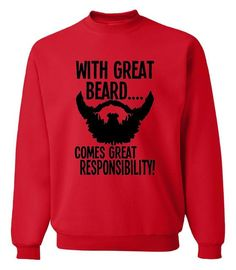 gift for father funny sweatshirts With Great Beard Comes Great Responsibility 2017 new autumn winter fashion hoodies S-2XL