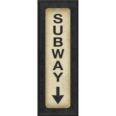 Subway Down Framed Textual Art at Wayfair