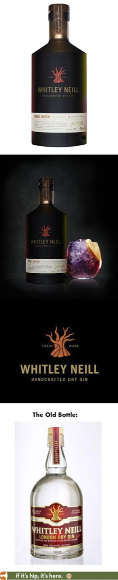 Whitley Neill's new bottle design for their London Dry Gin is a HUGE improvement over their old one.