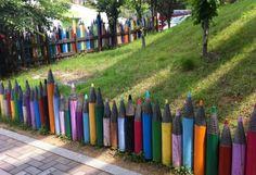 Pencil Crayon Fence