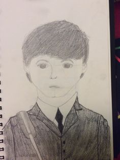 Paul McCartney. I've been trying to draw realistic people, mostly Beatles. How did I do? Maybe I'm obsessed