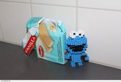 Cookie Monster made out of Hama-beads