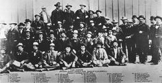 The invaders of Johnson County, in custody at Ft. D.A. Russell in  Cheyenne, spring 1892. None were ever brought to trial. Courtesy Jim  Gatchell Memorial Museum.