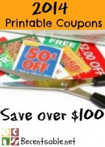 Printable Coupons 2014: $100 In Coupons