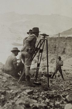 [Image: The tools and props of surveying; courtesy of the USGS].
