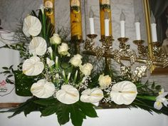 Stylowi.pl - Odkrywaj, kolekcjonuj, kupuj Altar Decorations, Balloon Decorations, Flower Decorations, Contemporary Flower Arrangements, Large Flower Arrangements, Arte Floral, Church Flowers, Luxury Flowers, Ikebana