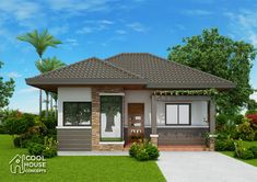 Basic 3 Bedroom House Plans Inspirational Two Bedroom Small House Plan Cool House Concepts Bungalow Haus Design, Modern Bungalow House, Bungalow Exterior, Duplex House Design, Two Bedroom House Design, Three Bedroom House Plan, Small House Design, Bungalow Floor Plans, Small House Plans