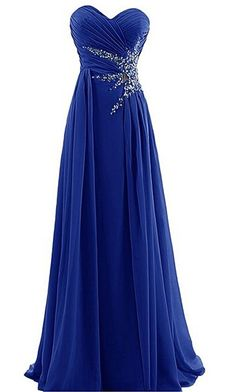online shopping for DRESSTELLS Sweetheart Beading Floor-length Chiffon Prom Dress Evening Gown from top store. See new offer for DRESSTELLS Sweetheart Beading Floor-length Chiffon Prom Dress Evening Gown Purple Evening Gowns, Beaded Evening Gowns, Ball Gowns Evening, Evening Dresses, Beaded Gown, Royal Blue Prom Dresses, Pretty Prom Dresses, A Line Prom Dresses, Bridesmaid Dresses