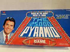 THE 25,000 PYRAMID Game1986 Cardinal Games #Cardinal