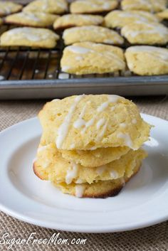 Sugar-Free Lemony Butter Cookies #glutenfree #lowcarb too!/ sugarfreemom.com