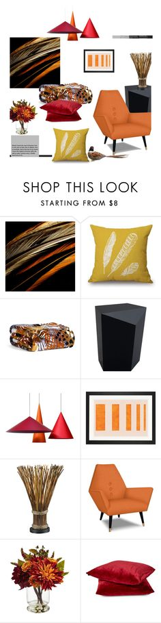 """""""Autumn's Colors'"""" by dianefantasy ❤ liked on Polyvore featuring interior, interiors, interior design, home, home decor, interior decorating, Vera Bradley and Nearly Natural"""