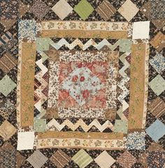 C. 1830 quilt, printed cotton dating from the 1830s, 90 x 92 inches, sold in London in 2009