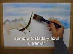 Acuarela Húmedo sobre Húmedo - YouTube