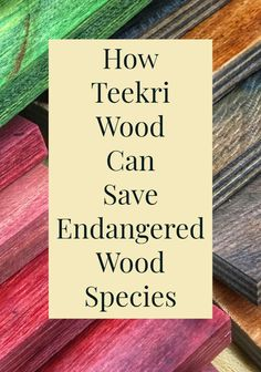All of the beauty with none of the ethical questions. Teekri wood is the modern solution to using rare and endangered wood species in your woodworking projects.