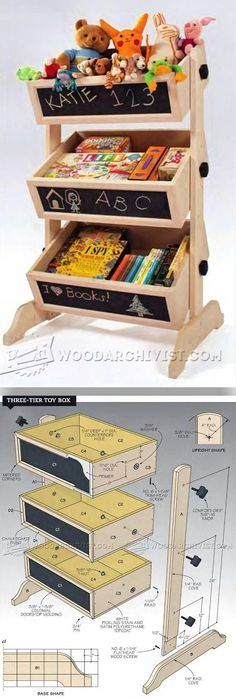 Three-Tier Toy Box Plans - Wooden Toys Plans and Projects   WoodArchivist.com