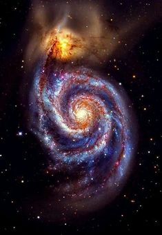 Hubble Space Telescope Whirlpool galaxy, also with its companion dwarf galaxy NGC These two are interacting galaxies in the constellation Canes Venatici. Cosmos, Hubble Space Telescope, Space And Astronomy, Space Planets, Space Photos, Space Images, Whirlpool Galaxy, Galaxy Space, Galaxy Galaxy