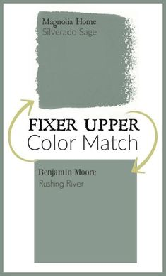 Upper Paint Colors: Magnolia Home Paint Color Matched to Benjamin Moore Fixer Upper Paint color matched to Benjamin Moore paint.Fixer Upper Paint color matched to Benjamin Moore paint. Fixer Upper Paint Colors, Matching Paint Colors, Green Paint Colors, Interior Paint Colors, Paint Colors For Home, House Colors, Interior Painting, Playroom Paint Colors, Paint Themes