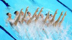 Russia competes in the Women's Teams Synchronised Swimming Technical Routine on Day 13 of the London 2012 Olympic Games at the Aquatics Centre.
