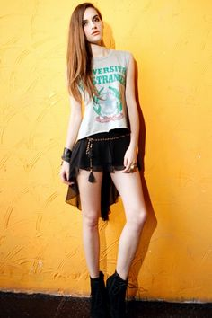 asymmetric chiffon shorts