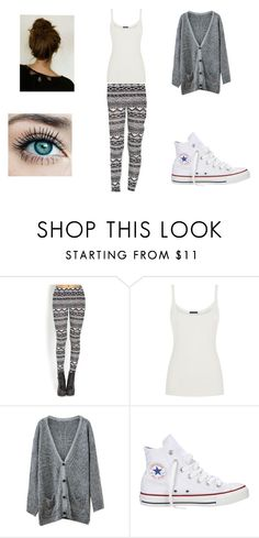 """Lazy Day"" by rachel-lynn786 ❤ liked on Polyvore featuring Forever 21, Ralph Lauren Blue Label, Chicnova Fashion and Converse"