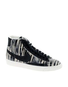 Nike Blazer Mid Print Black High Top Trainers