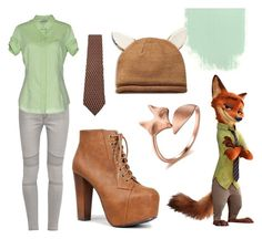 """""""Nick - Zootopia"""" by ringonoshin ❤ liked on Polyvore featuring French Connection, Henry Cotton's, Christian Dior, Speed Limit 98 and zootopia"""