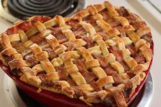 """In honor of National Bacon Day in September, this is my third bacon dish for the month .  I decided to """"bacon-fy"""" an American classic.   Everyone has had apple pie but not many have tried it with bacon.  So, I decided to make a Bacon Apple Pie."""
