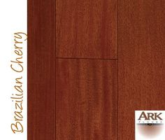 Brazilian Cherry Prefinished Engineered by ARK Floors  Finish Shown:  CLEAR  www.shop4floors.com