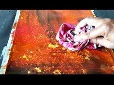 Abstract painting / Easy Abstract background / Acrylic and water / Demonstration - YouTube
