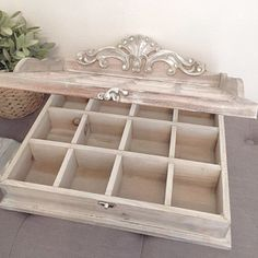 Large Jewlery Box Jewelry Organizer Keepsake Box Ornate Wood Shadow Box Gift For Her French Nordic