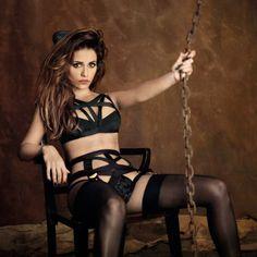Whitney bondage style lingerie - Monica Cruz - Agent Provocateur