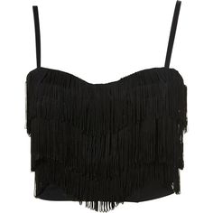 Fringe Corset Top ($52) ❤ liked on Polyvore