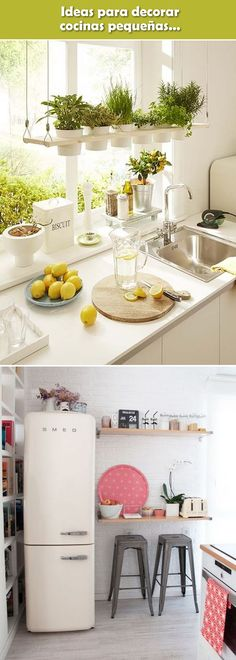 Ideas para cocinas pequeñas. Decoración de cocinas pequeñas. #cocinaspequeñas #decoraciondecocinas