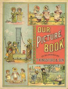 Free Antique Clip Art: Front and Back Covers of Antique Storybook