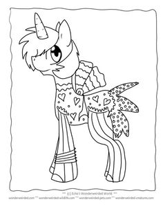 Unicorn Coloring Pages for Kids FREE to print at www.wonderweirded-creatures.com/unicorn-coloring-pages-for-kids.html, from Echos Fantasy Coloring PAges Collection, FREE unicorn printables