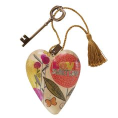 Demdaco Sweet Love Art Heart >>> Additional details at the pin image, click it  : Home Decor Collectible Figurines