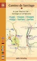 Camino de Santiago Maps Mapas Mappe Mapy Karten Cartes St Jean Pied de Port Santiago de Compostela