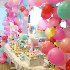 Lovely dessert table at a flamingo birthday party! See more party ideas at CatchMyParty.com!