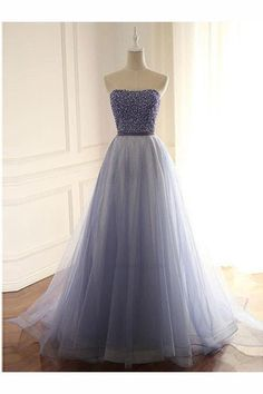 Cheap Beautiful Prom Dresses Long Formal Evening Ball Gowns New Strapless Beaded Corset Back Long Prom Dresses 2019 Homecoming Dresses Long, Strapless Prom Dresses, Simple Prom Dress, A Line Prom Dresses, Beautiful Prom Dresses, Prom Party Dresses, Ball Dresses, Ball Gowns, Dress Prom