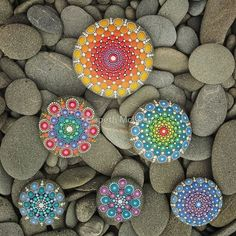 Pyramid Mandala Stones by Elspeth McLean