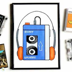 Great work from Good Art Guide artist @ianviggars Check them out in our E-magazine at https://joom.ag/zmSW and at www.goodartguide.com . . . 'Got a new #painting in my @artfinder_com shop part of a new series of #retro objects. This time it's a classic Sony #walkman. I've painted a whole series but I found out that this is the one from Guardians of the Galaxy a film I've never actually seen. #prints will follow but for now it's an A4 unframed painting exclusive to #ArtFinder - link in…