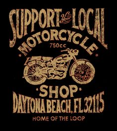 Old school sign motorcycle advertisement
