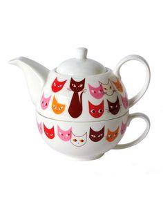 Cat Teapot Set...I WANT!!!!!!!!!!