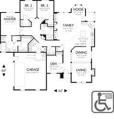 35 Best ADA/Wheelchair Accessible House Plans images   Floor plans House Plans With Great Room Nook on house plans with decks, house plans with office, house plans with towers, house plans with shops, house plans with windows, house plans with flowers, house plans with foyers, house plans with furniture, house plans with library, house plans with closets, house plans with stairs, house plans with nursery, house plans with kitchen, house plans with trees, house plans with dining rooms, house plans with mudrooms, house plans with arches, house plans with fireplaces, house plans with hallways, house plans with bars,