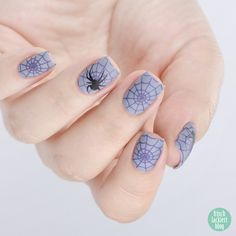 Halloween Spider Nails mit ANNY I´m a happy color – Nailart by frischlackiert