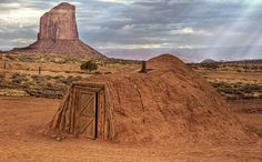 http://commons.wikimedia.org/wiki/File:Navajo_Hogan,_Monument_Valley.jpg