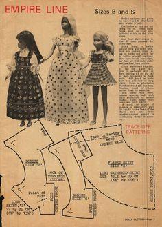 Album Archive - Cloth Dolls by Brightmore Diy Barbie Clothes, Sewing Doll Clothes, Sewing Dolls, Doll Clothes Patterns, Doll Patterns, Dress Patterns, Sindy Doll, Barbie Skipper, Barbie Dress