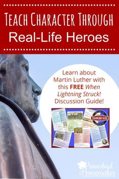 Teach character through real life heroes AND a FREE Martin Luther discussion guide! Christian Parenting, Christian Homeschool, Parenting Articles, Homeschool Curriculum, Homeschooling, Learning Resources, Real Life, Sunday School, Middle School