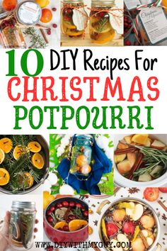 10 DIY Christmas Potpourri Recipes That Smell Amazing - DIY With My Guy 10 DIY Christmas Potpourri Recipes That Smell Amazing. Bring The Smell Of Christmas Into Your Home With These Natural Stove Top Christmas Potpourri Recipes. Christmas Scents, Homemade Christmas, Christmas Diy, Smell Of Christmas, Christmas Recipes, Christmas Crafs, Xmas, Christmas Kitchen, Christmas Desserts