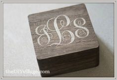 Monogrammed Jewelry Box (last Minute Gift Idea